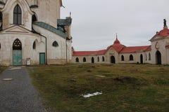 Sobre la base de la iglesia del peregrinaje de la UNESCO de St John de Nepomuk, República Checa, Fotografía de archivo libre de regalías