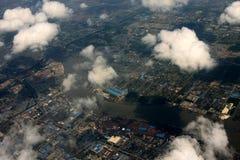 Sobre la ciudad Imagen de archivo libre de regalías