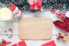 Sobre la imagen aérea de la visión del concepto de la Feliz Año Nuevo de los artículos y del fondo de la Feliz Navidad Fotografía de archivo