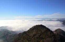 Sobre la niebla Fotografía de archivo libre de regalías