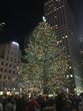 Sobre la qué Navidad en NYC está todo Imagen de archivo libre de regalías