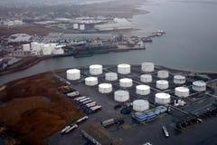 Sobre la refinería Foto de archivo