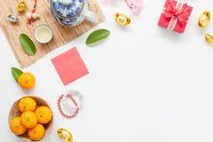 Sobre la visión la imagen tiró de accesorios en Año Nuevo lunar y día de fiesta chino del Año Nuevo Fotos de archivo libres de regalías