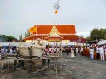Sobre la visión que echa la situación de Buda Fotos de archivo