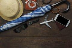 Sobre la vista del accesorio al viajero para llover día Fotos de archivo libres de regalías