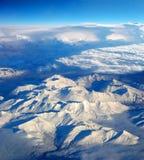 Sobre las montañas Imagenes de archivo