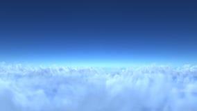 Sobre las nubes, 3d rinden Fotos de archivo