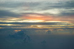 Sobre las nubes Foto de archivo libre de regalías