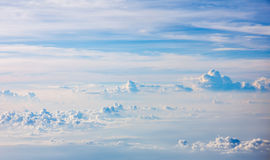 Sobre las nubes Foto de archivo