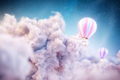 Sobre las nubes libre illustration