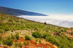 Sobre las nubes en la isla de Tenerife, España Fotografía de archivo