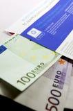 Sobre libre del hacha con millares de EUR Imagenes de archivo