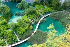 Sobre los lagos Plitvice Foto de archivo