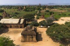 Sobre los templos de Bagan fotografía de archivo