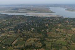 Sobre los templos de Bagan fotos de archivo libres de regalías