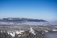Sobre a montanha Foto de Stock