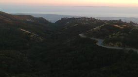 Sobre a montanha Santa Barbara video estoque