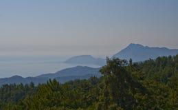 Sobre a montanha Tahtali Fotografia de Stock Royalty Free