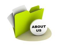 Sobre nosotros botón Imagen de archivo libre de regalías