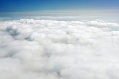 Sobre nuvens Fotografia de Stock