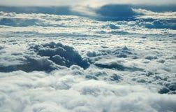 Sobre nuvens Imagem de Stock