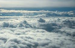 Sobre nuvens Fotos de Stock
