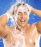 Sobre o chuveiro. foto de stock