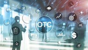 Sobre o contador OTC Conceito de troca do mercado de valores de a??o foto de stock royalty free