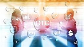 Sobre o contador OTC Conceito de troca do mercado de valores de a? imagens de stock