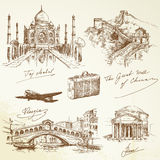 Sobre o curso do mundo - ilustração ilustração stock