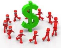 Sobre o dinheiro Fotos de Stock