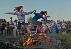 Sobre o fogo com seu favorito Fotos de Stock