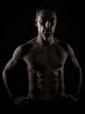 Sobre o homem 40 com grande corpo Imagens de Stock Royalty Free