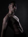 Sobre o homem 40 com grande corpo Foto de Stock