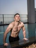 Sobre o homem 40 com grande corpo Fotografia de Stock