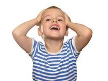 Sobre o menino feliz Imagens de Stock