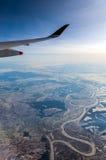 Sobre o país coberto de neve Fotografia de Stock