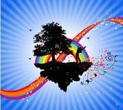 Sobre o sucesso do arco-íris Fotos de Stock