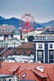 Sobre os telhados de Linz fotografia de stock royalty free