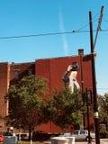 Sobre a pintura mural do Reno em Cincinnati Ohio fotografia de stock