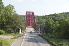 Sobre a ponte Foto de Stock