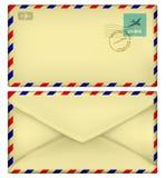 Sobre postal viejo Fotografía de archivo