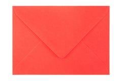 Sobre rojo en el fondo blanco fotografía de archivo