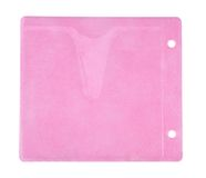 Sobre rosado para el CD Fotografía de archivo