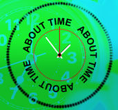 Sobre tiempo representa ser atrasado y prisa Foto de archivo