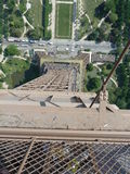 Sobre a torre Eiffel Foto de Stock Royalty Free