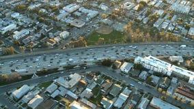 Sobre tráfico de la autopista sin peaje del la metrajes