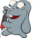 Sobre um coelho azul. Coelho o doutor. Desenhos animados Fotografia de Stock Royalty Free