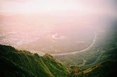 Sobre uma montanha em Havaí Imagens de Stock
