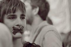 Sobre una muchacha fotografía de archivo
